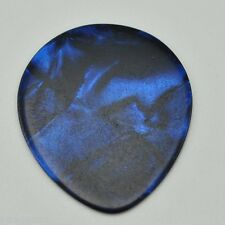 12 New Dark Blue Pearloid Teardrop Guitar Picks about .65 -.75mm No Logo