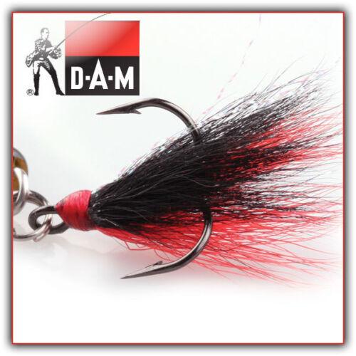 schwarz-tot Gr.2-3 Stück DAM SUMO Drillinge mit Behang
