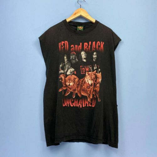 VTG NWO Wolf Pack Red & Black Unchained WWF WWE Wr