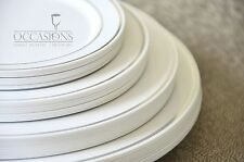 """"""" OCCASIONS """" Wedding Party Disposable Plastic Party Plates, Choose size & qtty"""