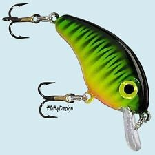 "Strike King Mini 1-1/2"" (1/8 oz.) Fire Tiger Bitsy Minnow Crankbait Fishing Lure"