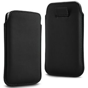 BLACK-SOFT-PREMIUM-PU-LEATHER-PULL-FLIP-TAB-CASE-COVER-POUCH-FOR-MOBILE-PHONES
