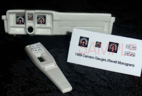 1969 CAMARO GAUGE FACES for 1//25 scale REVELL MONOGRAM model KITS