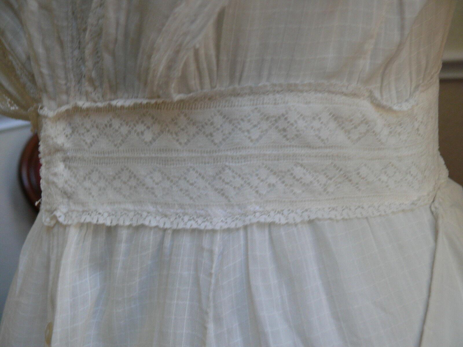 1910`s Edwardian White Dress Titanic Style Unusua… - image 10