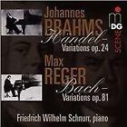 Johannes Brahms: Händel Variations, Op. 24; Max Reger: Bach Variations, Op. 81 (2015)