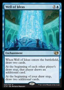 Well of Ideas x4 Magic the Gathering 4x Commander 2014 mtg card lot