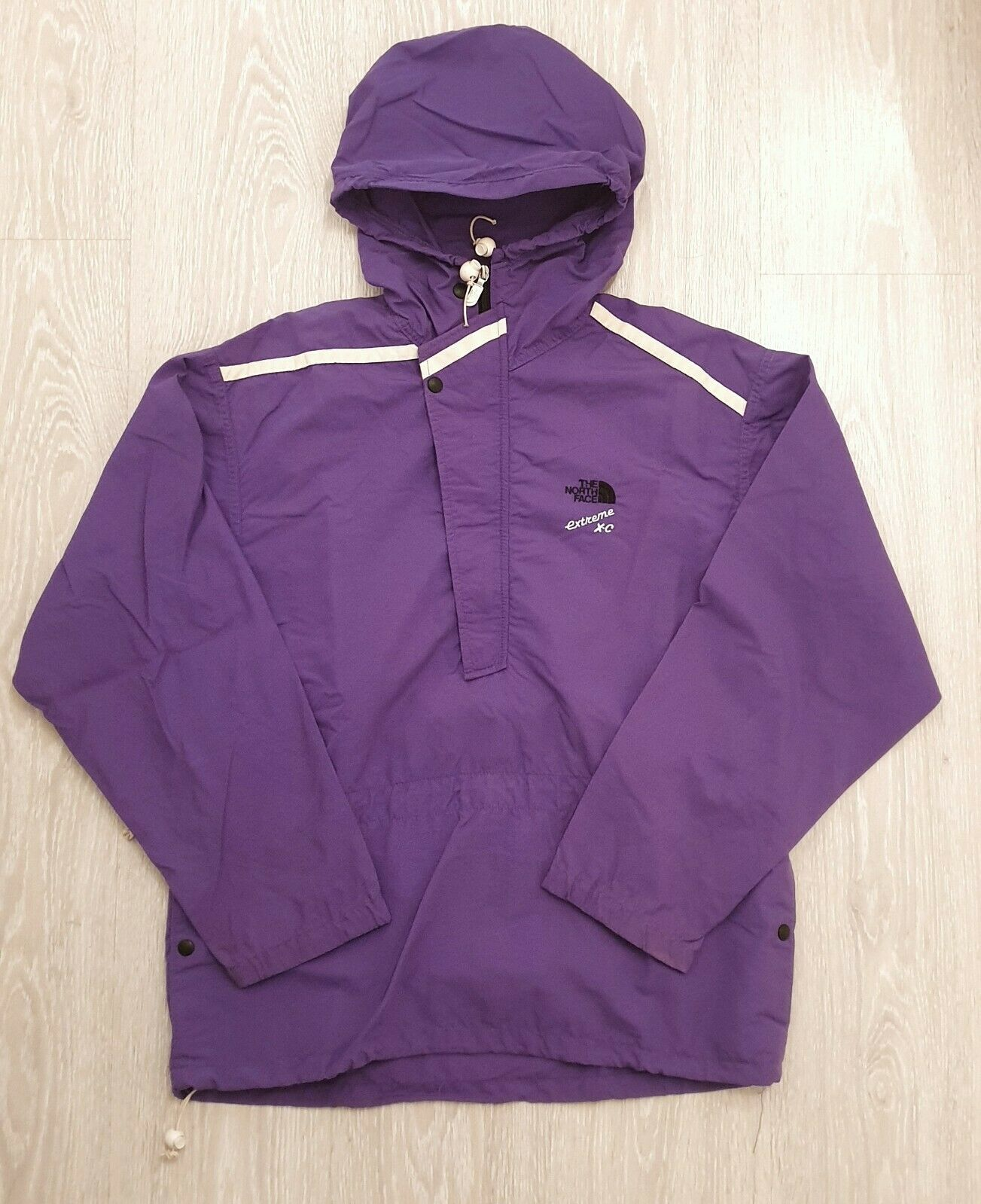 The North Face Vintage Anorak Pullover Jacket Extreme X-C Rare Purple 3M Shell