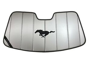 2015-19 Ford Mustang Custom Sunscreen with Carbon Fibre Horse by Covercraft
