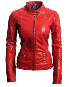 D'agneau Fit Biker Cuir Moto Designer En Lfk Véritable Slim Jacket Cuir Womens tqwvYA8xH