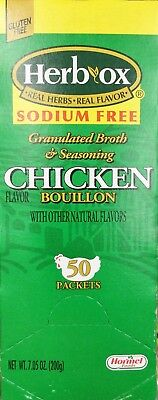 Herb Ox Hormel Chicken Bouillon 50 Packet Real Herbs ...