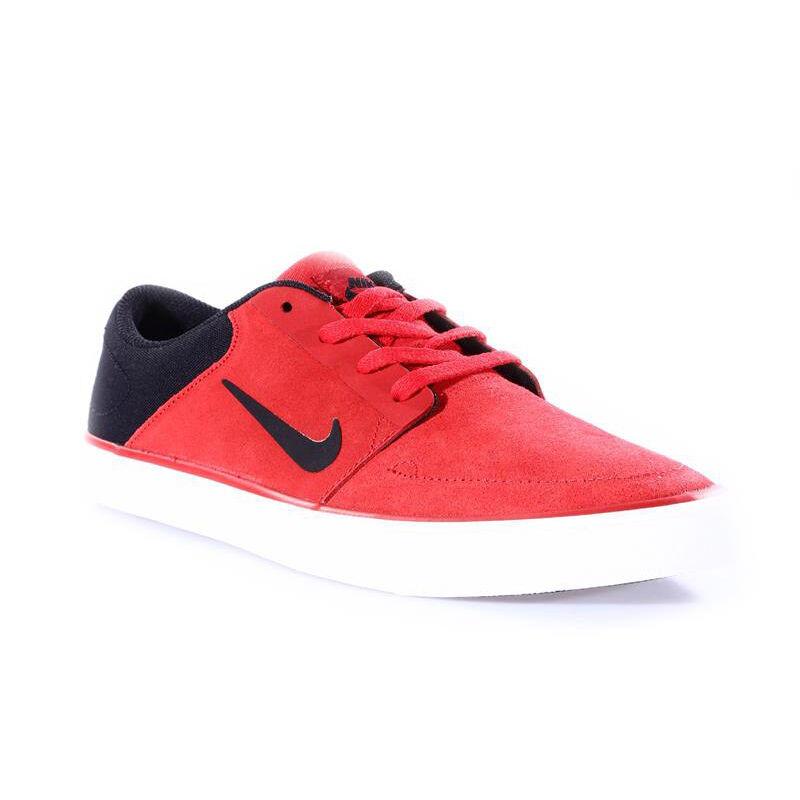 nike schuhe sb portmore skate - schuhe nike im roten, schwarzen männer größe 9,5, 11 und 12 us - 725027 f04479
