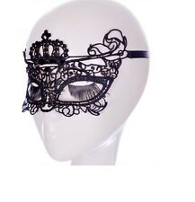 Black Lace Crown EYE MASK Halloween Masquerade Party Fancy Dress Costume