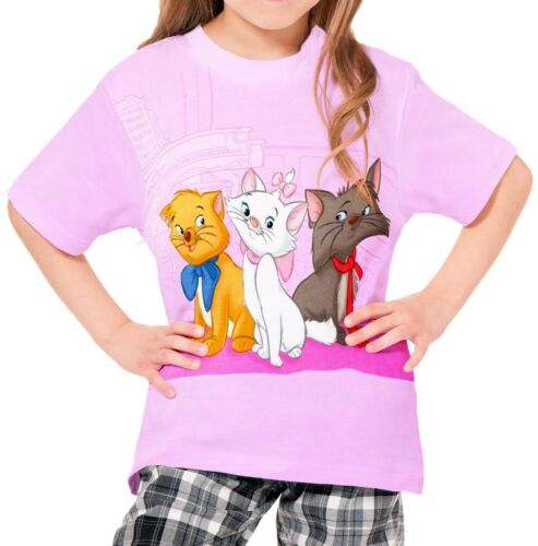 The Aristocats Girls Kid Youth T-Shirt Tee Age 3-13 New