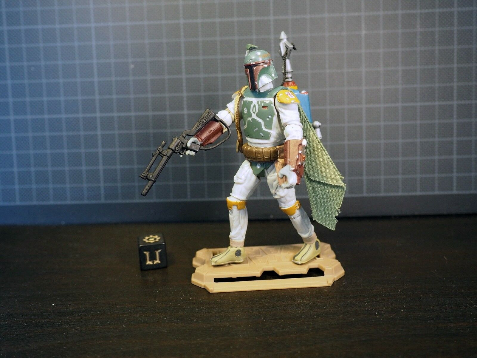 Star Wars Sail Barge Skiff grappling hook jetpack Boba Fett MH 24 Movie Heroes