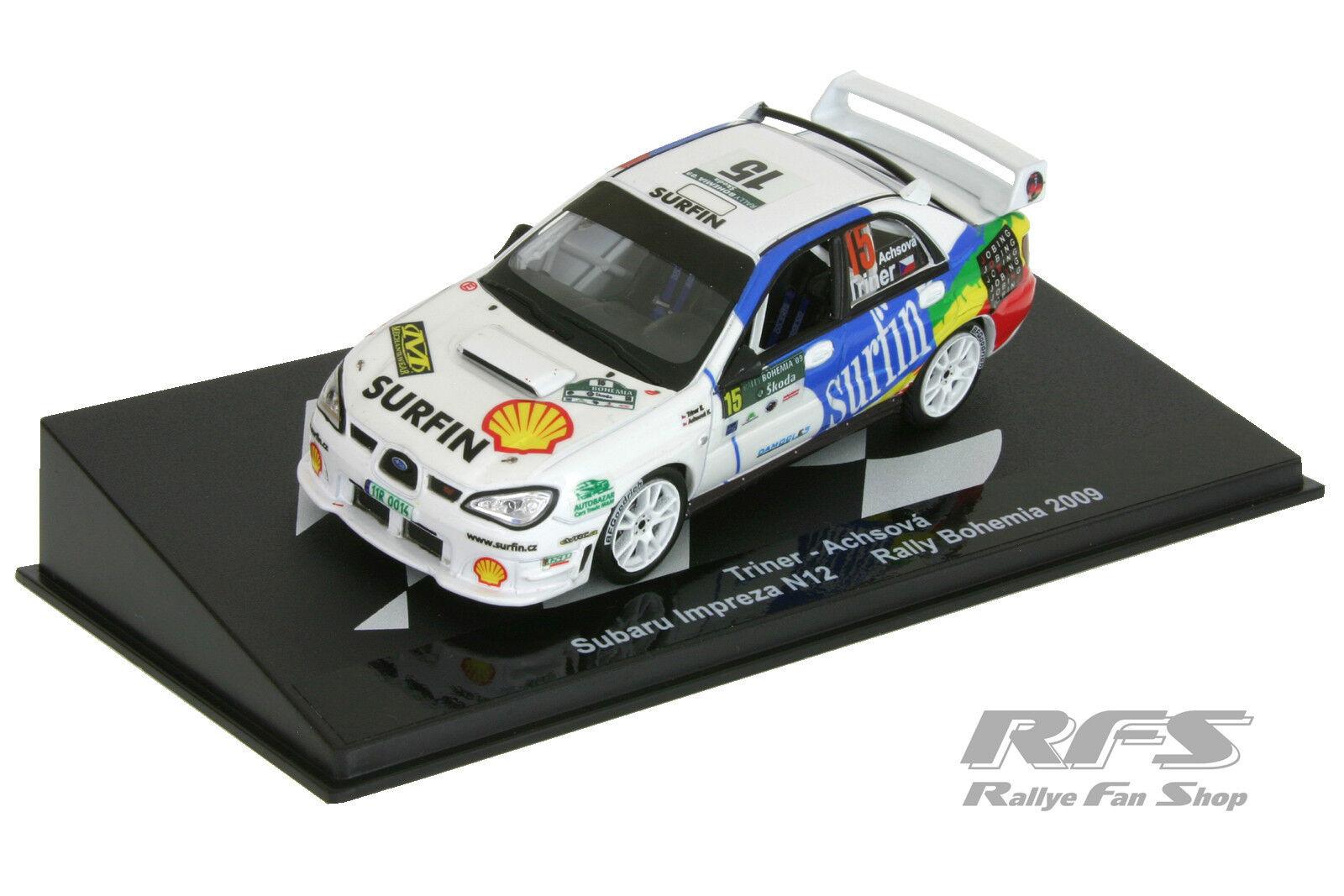 1 43 subaru impresa sti n12-triner achsova-Rally Bohemia 2009