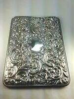 Stunning Sterling Silver Large Repousse Swirls Dresser Tray  Mirror England