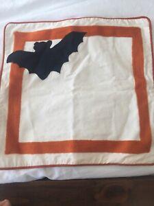 New Pottery Barn Kids Halloween Fall Bat Decorative Pillow