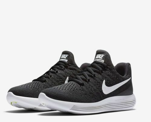 655c9cd02ca8 Nike Lunarepic Low Flyknit 2 GS II Black White Kids Running Shoes  869990-001 4 Y for sale online