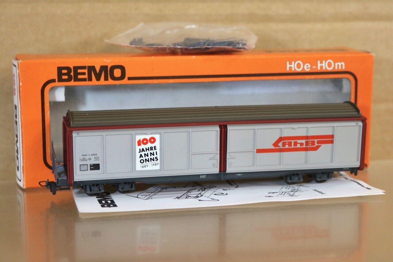 BEMO 2278-1 HOm GAUGE SBB SFF RhB 100 JAHRE SLIDING DOOR WAGON 5107 scatolaED nr