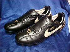 Nike Ronaldinho Black/Gold Soccer Cleats/Boots/Shoes Kangaroo Leather Size 12