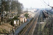 Original Colour Slide Foley Park Halt Worcester railway