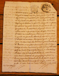 c1700-4P-manuscript-letter-very-nice-Stampsnice-calligraphy