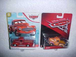 "2 HW DISNEY PIXAR CARS ""SMOKEY & HEYDAY SMOKEY"" NEW MATTEL DIE CAST PICKUPS"