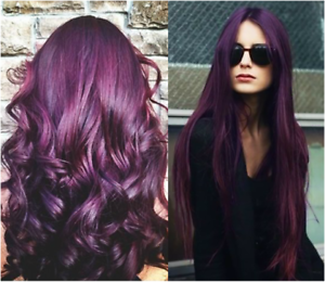 Details About 2 Set Of Berina A14 Dark Brown Violet Color Fashion Permanent Cream Hair Dye