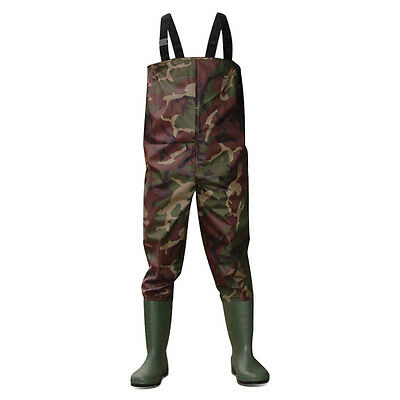Dirt Boot® Camo Nylon Chest Waders 100% Waterproof Fly Coarse Fishing Muck Wader