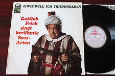 EMI SME 81 063 GOLD GOTTLOB FRICK FAMOUS BASS ARIAS LP NM (1960's) GERMANY