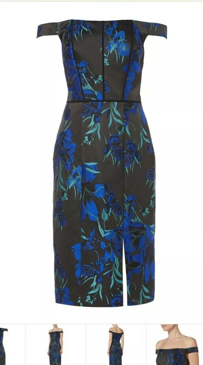 J S COLLECTIONS STRUCTURED BARDOT MIDI DRESS  SIZE RRP  BNWT RACES