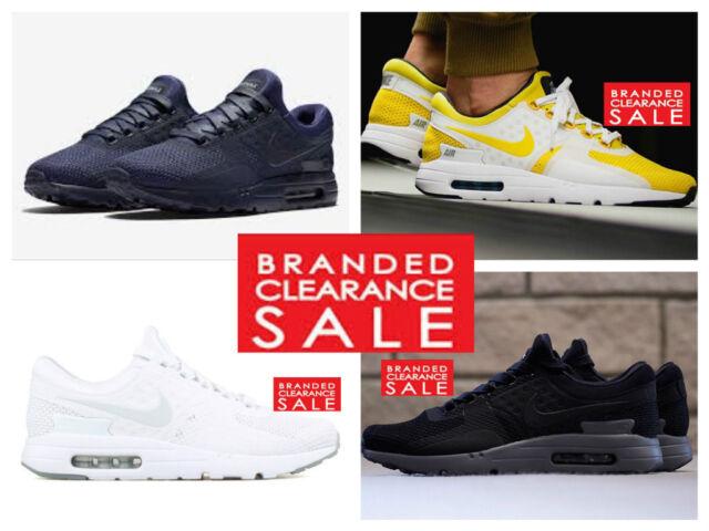 OVP Neue Männer Nike Air Max Zero QS schwarz weiße Obsidian Turnschuhe Größe 8 9 UK