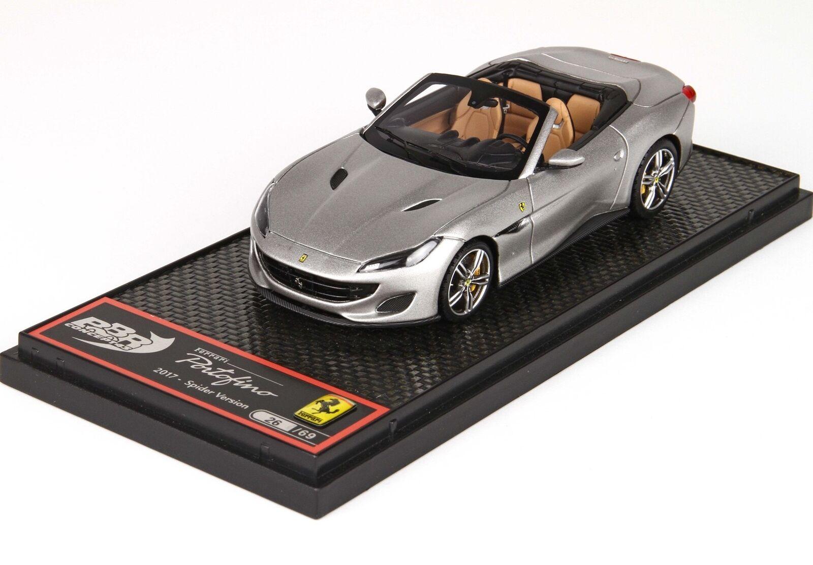 Ferrari portofino cabriolet auf 2017 alluminio lim.ed 69 pcs bbr 1 43 bbrc207f.