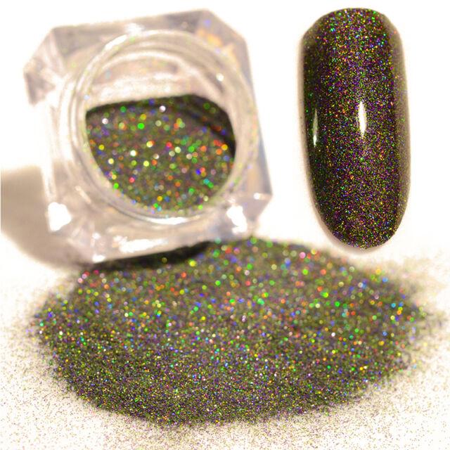 Sternhimmel Holographic Nagel Kunst Holo Glitter Puder Grün Dekor BORN PRETTY