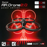Parrot Ar Drone 2.0 Red Power Edition W Hd Camera Flying Rc Vehicle