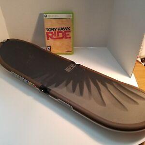 Tony-Hawk-Ride-And-Skateboard-Controller-Microsoft-Xbox-360-Game-Untested