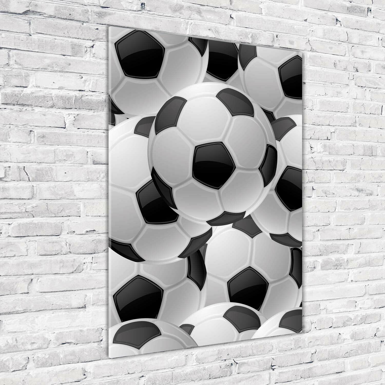 Wand-Bild Kunstdruck aus Acryl-Glas Hochformat 70x100 Fußball