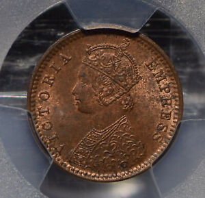 British India 1901 1/12 Anna PCGS MS63RB SW-6.672 PC0658 combine shipping