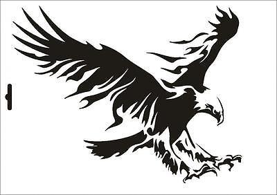 Wandschablone Maler T-shirt Schablone W-012 Adler ~ UMR Design