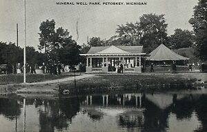 Mineral Well Park Petoskey Michigan MI  Postcard