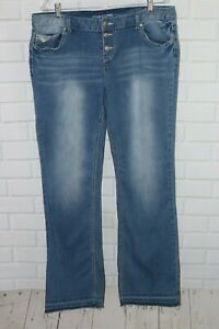Maurices-Juniors-Size-15-16-Jeans-Distressed-Stretch