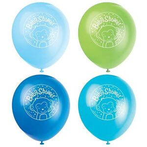 8-X-Jungen-Baby-Dusche-Luftballons-Partydekorationen-Affe