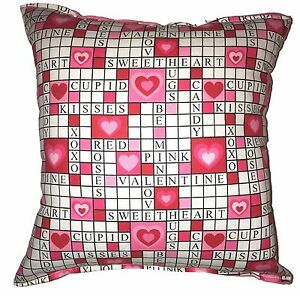 Crossword-Pillow-Valentines-Day-Pillow-Handmade-In-USA-Kiss-me-Be-Mine-Pillow