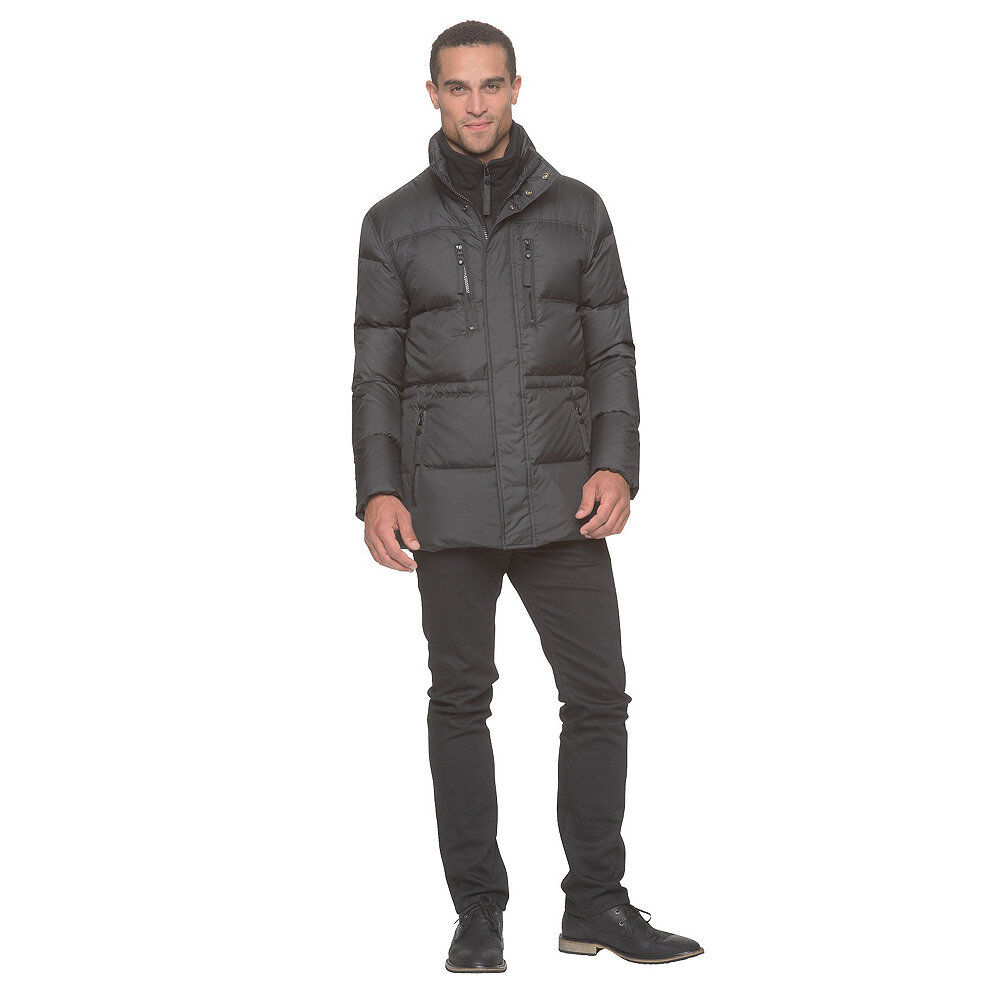 Men's Marc NY by Andrew Marc Niagra Down/Feather Parka w/Bib Ink L  NK27N-832