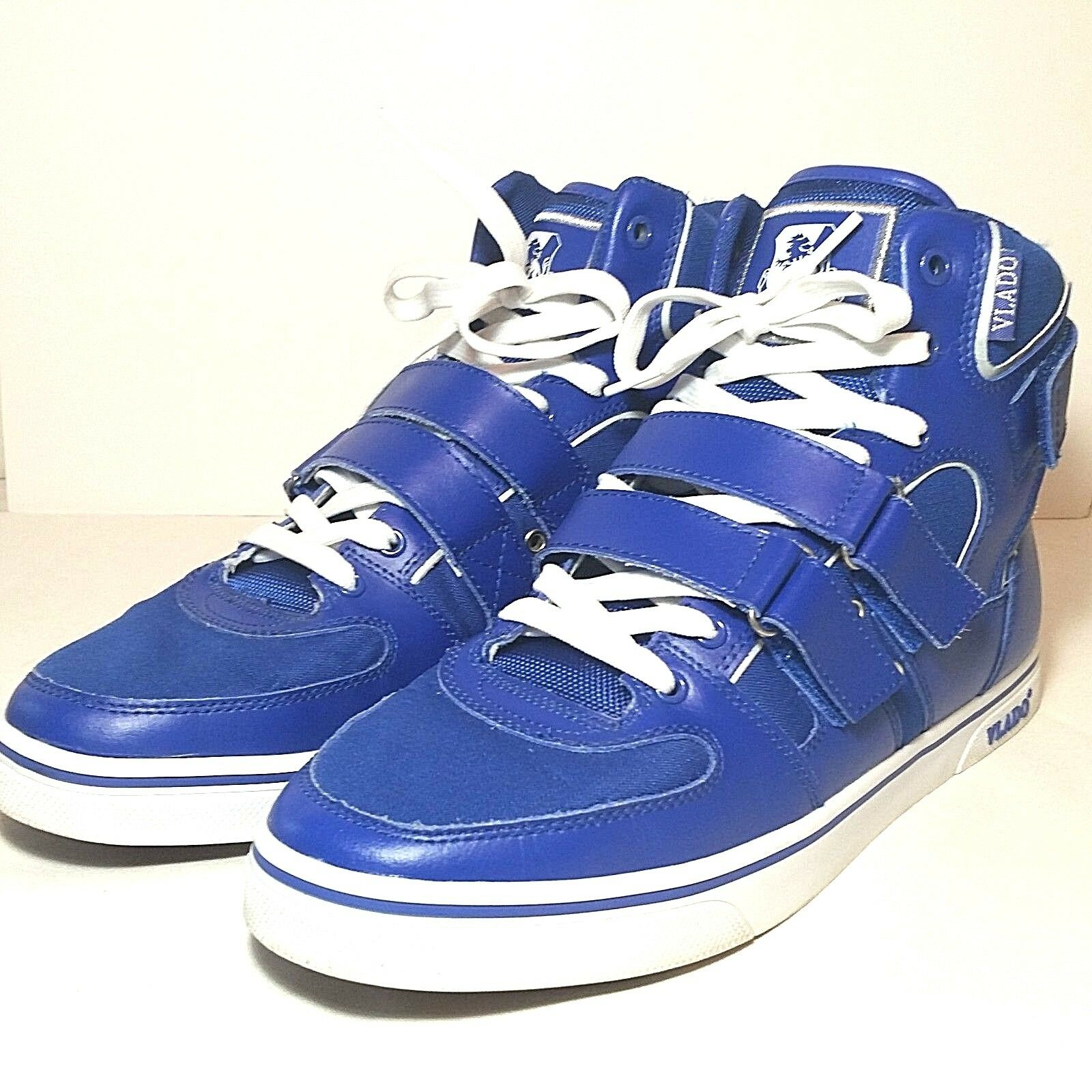 Vlado High Top sneakers bluee size 10.5 lace up hook and loop straps