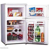Igloo 2 Door 3.2 Cu Ft Refrigerator Freezer Capacity Compact Fridge Cooler White
