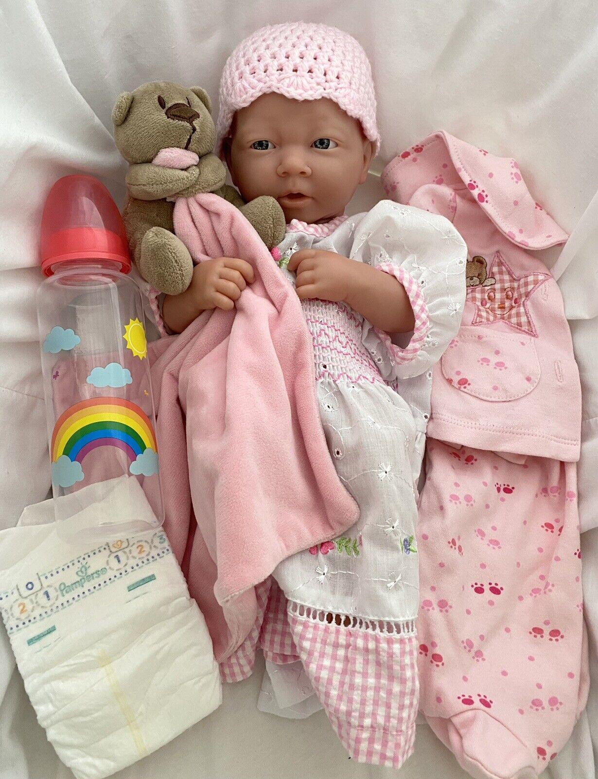 Berenguer La Newborn Baby Girl Doll Lifelike Reborn Gift Set