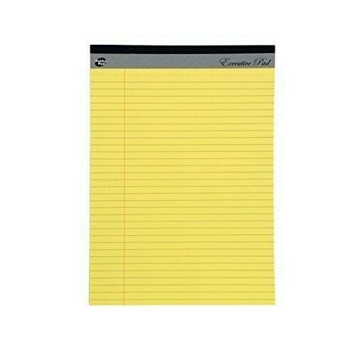 Pukka Yellow Legal Executive 60gsm Refill Pad 8mm Ruled Lined and Margin