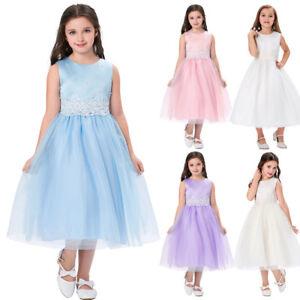 Infantil-Flor-Fiesta-Ninas-Vestido-con-Tutu-Boda-de-Dama-Honor-Princesa-Edad