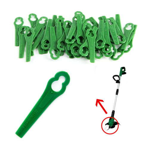 100 Stück Rasenmäherklinge für Rasentrimmer PRTA 26-Li LIDL IAN in Grün 8,3cm